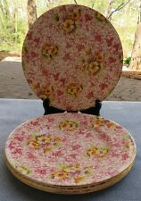 Set of FOUR Royal Winton Dorset Pink Floral Chintz Dinner Plates