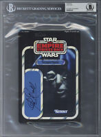 CLIVE REVILL SIGNED KENNER CARD BACK VOICE OF THE EMPEROR STAR WARS BECKETT BAS