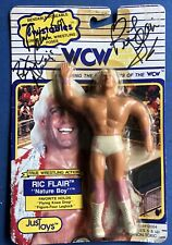 RIC FLAIR 1990 WCW TWISTABLES FIGURE Wrestling JusToys, Signed Autographed!
