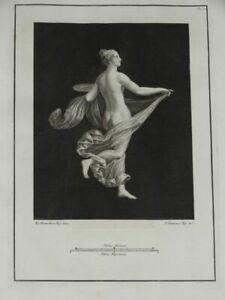 Mezza Nuda - Campana Vanni Kupferstich Pitture Antiche Herculaneum Halbakt 1765