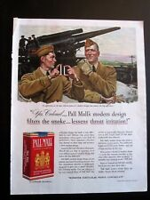 Artillery Officers in Pre WWII Pall Mall Cigarette Ad