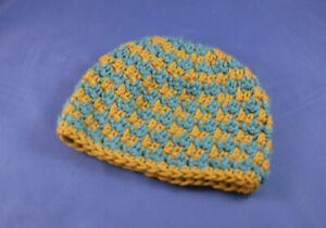 Handmade Crochet  hounds tooth pattern childrens beanie hat kids baby