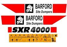 BARFORD SXR4000 DUMPER DECALS