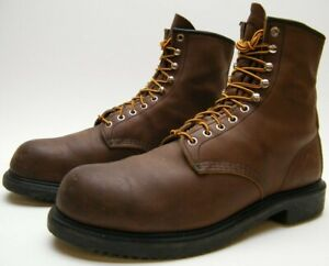 MENS RED WING 2233 STEEL TOE BROWN LEATHER LACE UP WORK BOOTS SZ 11.5~1/2 A
