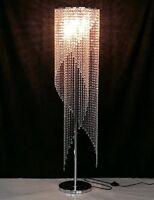 Modern Crystal Floor Lamp Contemporary Raindrop Light Designer Lighting Gift NEW