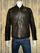 Rare La Martina Harrington Style Butter Soft Lamb Leather Jacket Size L