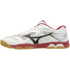 Mizuno Table Tennis Chaussures Wave Médaille 6 81GA1915 Blanc X Black X Rouge