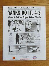 Daily News 1951 NEW YORK YANKEES WORLD CHAMPION PHOTO Joe Dimaggio Mickey Mantle