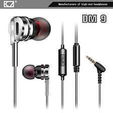 high-end cuffie auricolari kz-dm9 PROFESSIONALE ARGENTO In-Ear in custia