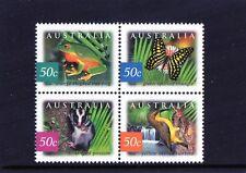 2003 Nature of Australia Rainforests Block Of 4 MNH, Clean & Fresh