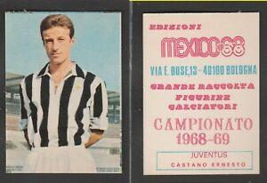 FIGURINA CALCIATORI ALBUM EDIZIONI MEXICO 1968 1967-68 JUVENTUS CASTANO
