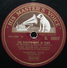 """10"""" 78 - Alma Cogan - The Banjo's Back in Town - HMV B10917 - 1955"""