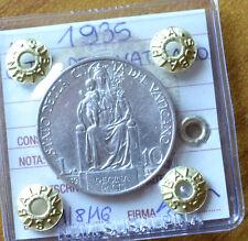 CITTA' DEL VATICANO PIO XI 10 LIRE 1935 SIGILLATA SPL SUBALPINA