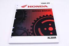 New Service Manual 1984-1985 XL350R XL350 OEM Honda Shop Repair Book       #N33