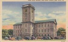 Vintage Postcard c1946 Clock Tower Rock Island Arsenal Rock Island, Il 18706