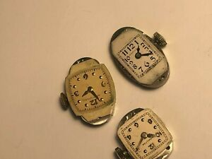 LOT OF 3  HAMILTON 995A 750 721 LADIE SWATCH WIND-UP MOVEMENTS FOR PARTS