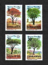 Zimbabwe 1981 National Tree Day complete set of 4 values (SG 606-609) MNH