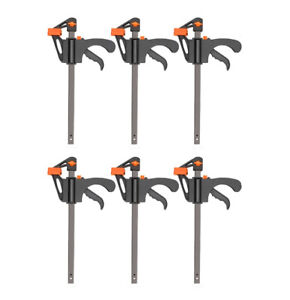 6x Heavy Duty Clip Bar F Clamp Grip Quick Ratchet Release Squeeze Hand Bar Tool