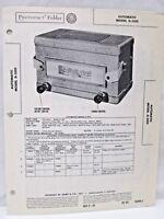 Vintage Sams Photofact Folder Radio Parts Manual Automatic Model D-200 Receiver