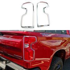 For 2019-2021 Chevy Silverado 1500 Chrome Taillight Tail Lamp Covers Bezel Trims