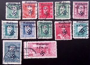SUDETENLAND WWII, GERMAN OCCUP.  USED LOT (Robhaupt)