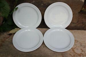 4 weiße Kuchenteller Frühstücksteller Porzellan