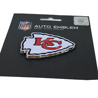 New NFL Kansas City Chiefs Auto Car Truck Heavy Duty Metal Color Emblem