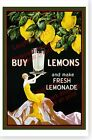 Buy Lemons And Make Fresh Lemonade Retro Art Deco Poster