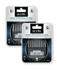 Andis Master ML METAL Clip #0 & #1 TWO PACK #33660 & #33665 Comb Clipper Guards