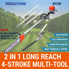 4-STROKE Long Reach Pole Chainsaw Hedge Trimmer Pruner Chain Saw Cutter Multi
