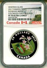 2017 Canada $20 Venetian Glass Dogbane Beetle Early Release NGC PF70 Ultra Cameo