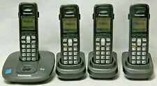 Panasonic KX-TG6411 DECT 6.0 - 4 Station Cordless Phone System - New Batteries