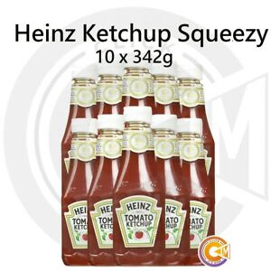 Heinz Tomato Ketchup Squeezy Bottles Sauce Pack of 10 x 342g