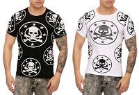 Herren T-Shirt Poloshirt Shirt Kurzarm Skull Printshirt Kurzarm 3176 John Kayna