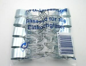 10 x Universalbügel Einkochklammern für Einkochgläser Weckgläser Einmachgläser