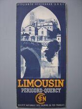 Ancien dépliant touristique  Guide Le LIMOUSIN Périgord Quercy