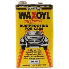 Hammerite Waxoyl Wax Oil Rustproofing Clear 5 Litre Corrosion Inhibitors