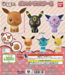 Bandai Gashapon Capsule Toys CapChara Pokemon 8 (set of 6)