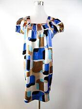 TFNC Woman Sexy Casual Summer Satin Multi Print Oversize Mini Tunic Dress BF1