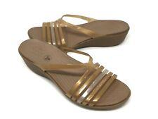 Women's Crocs Isabella Mini Wedge Sandals Size 11 Bronze NEW