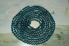 "Vintage - Blue - Mercury Glass Bead Christmas Garland 104"""