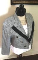 80's Vintage Gingham Cropped Blazer