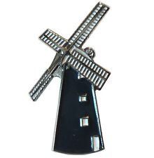 Windmill Metal Enamel Pin Badge or Brooch Holland Dutch Netherlands Mill New