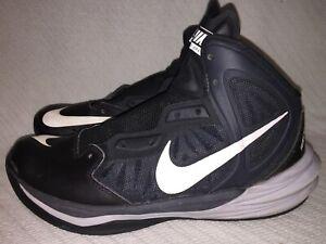 Men's Size 7.5 Nike Prime Hype DF Black/White/Anthra Basketball Shoes 683705-002