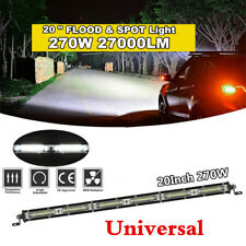 "1Pcs 20"" 270W 27000LM Car Truck Flood Spot Beam Combo Slim LED Work Light Bar"