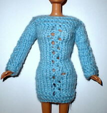 Handmade Knitted Clothes Pullover Jumper Dress Sweater Doll Barbie Knit Fashion