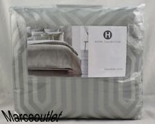 Hotel Collection Lithos FULL / QUEEN Duvet Cover Gray