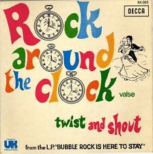 """BUBBLEROCK ROCK AROUND THE CLOCK / TWIST AND SHOUT FRENCH 45 PS 7"""""""