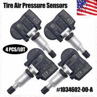 4PCS TPMS For Tesla Model 3 S X Tire Pressure Sensor 103460200A Clamp-in 433MHz