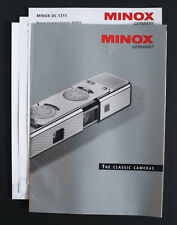 MINOX CLASSIC CAMERAS LITERATURE